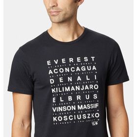 Mountain Hardwear Seven Summits Camiseta Manga Corta Hombre, black